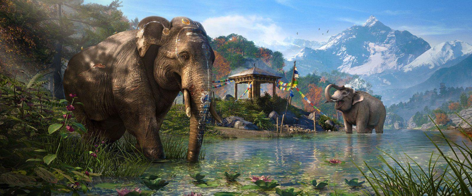 Slony v Far Cry 4 poslúžia aj ako tank (zdroj: