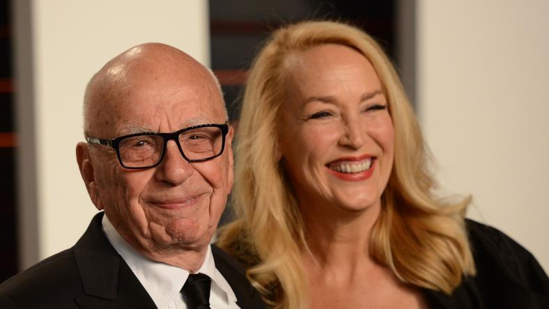 Rupert Murdoch és Jerry Hall úgy néz ki, jól megértik egymást a korkülönbség ellenére is. / Fotó:Northfoto