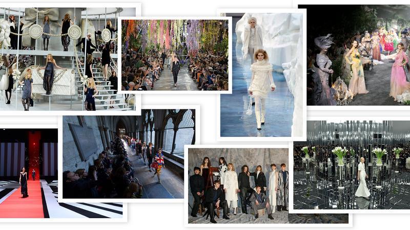 Scenografie z pokazów mody