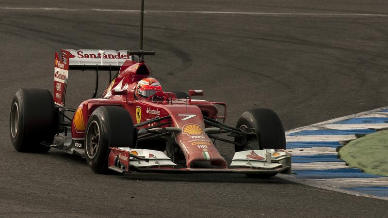 Kimi Raikkonen w swoim bolidzie