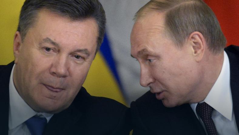 Wiktor Janukowycz i Władimir Putin