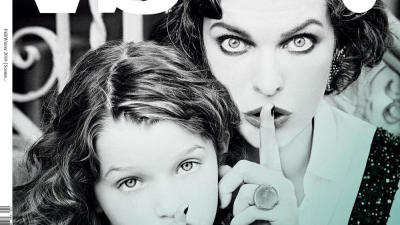 "Milla Jovovich z córką na okładce ""Vs.Magazine"""
