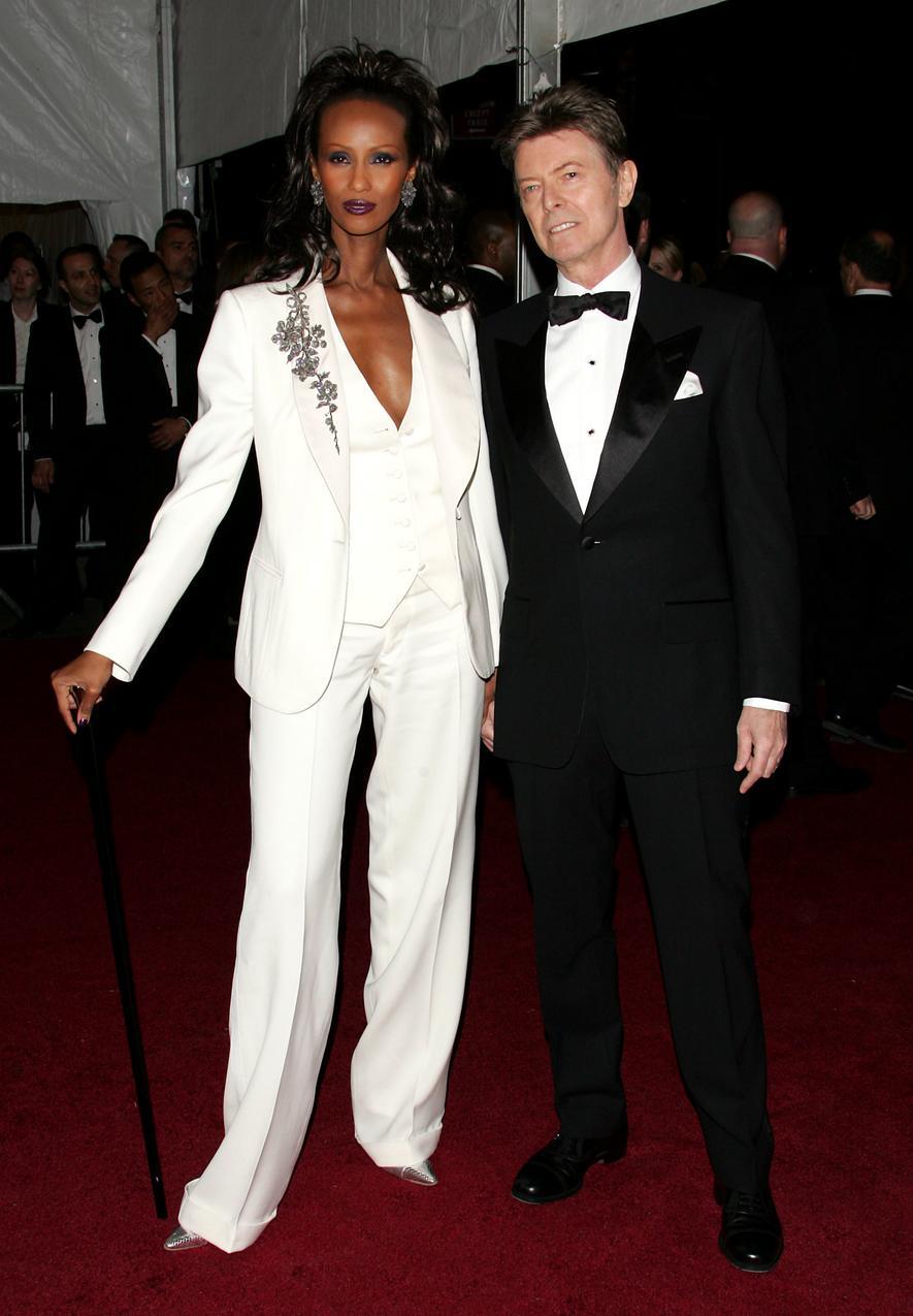David Bowie z żoną, Iman
