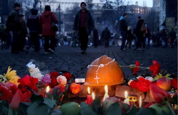 """Majdan Niepodległości, dzień po """"krwawym czwartku"""""""