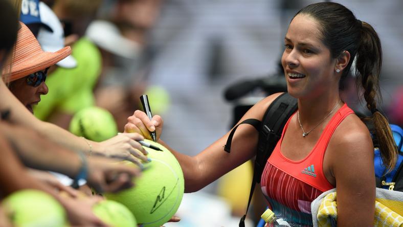 Ana Ivanovic szépségével is lenyűgözi a teniszrajongókat /Fotó: AFP