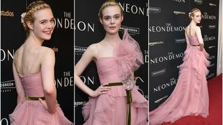Best Look: Elle Fanning w różowej sukience Gucci