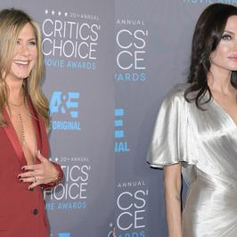 Angelina Jolie i Jennifer Aniston na tej samej imprezie. Która wyglądała lepiej?