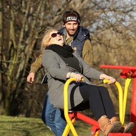 Elżbieta Romanowska i Rafał Maserak trenują pod chmurką