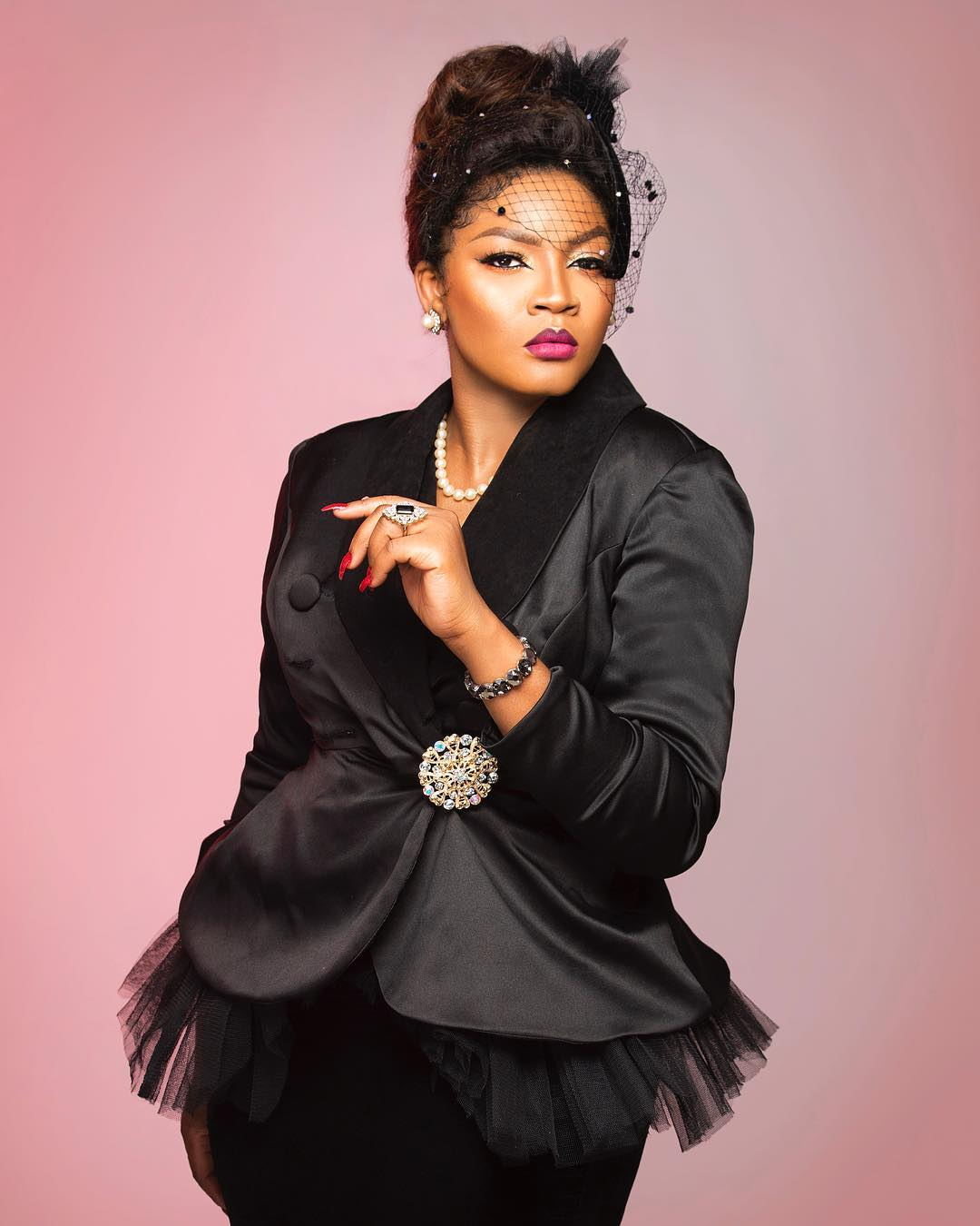 57f92c59915c64dbbdf5b4008f0fc134 - Omotola Jalade-Ekeinde can't keep calm as daughter bags 2 degrees at 19