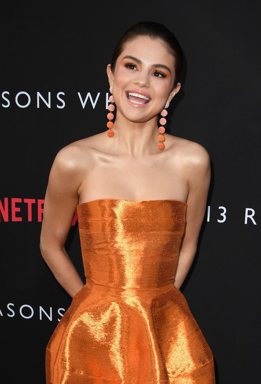 Piękna Selena Gomez w sukience Oscara de la Renty