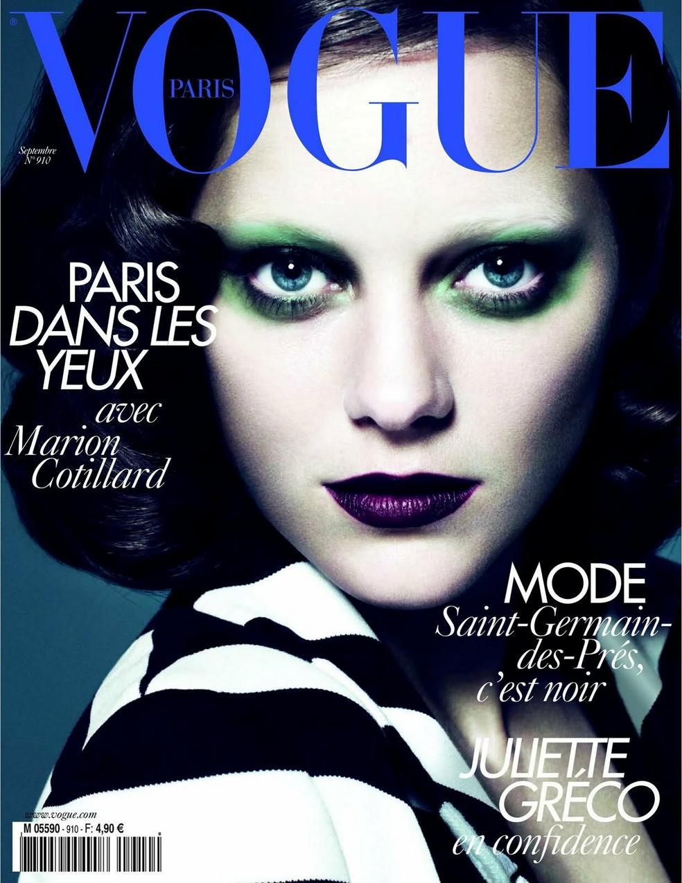 Marion Cottilard na okładce Vogue Paris, wrzesień 2010