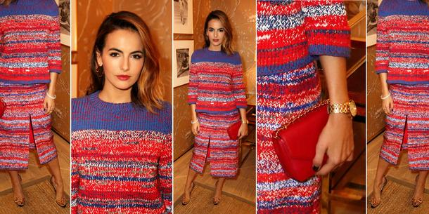Best Look: Camilla Belle w dzianinie Tory Burch