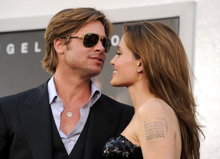 Самая сексуальная пара Голливуда Брэд Питт и Анджелина Джоли