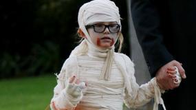 Halloweenowe przebrania dzieci gwiazd