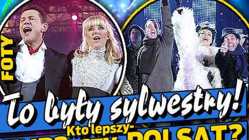 To były sylwestry. Kto lepszy - Polsat czy TVP2? Foty