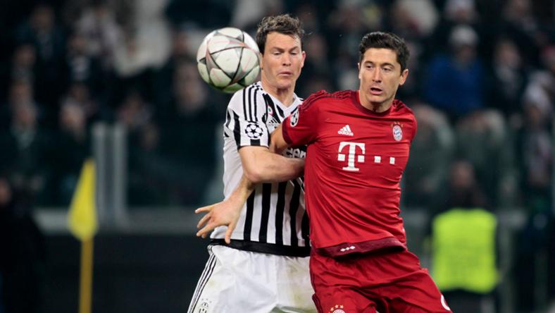 Lewandowski nagy csatában a Juve-elleni BL-meccsen /Fotó: AFP