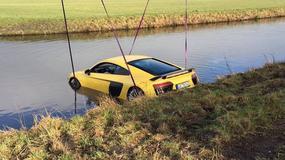 Nurkowanie w rzece Audi R8 V10 Plus