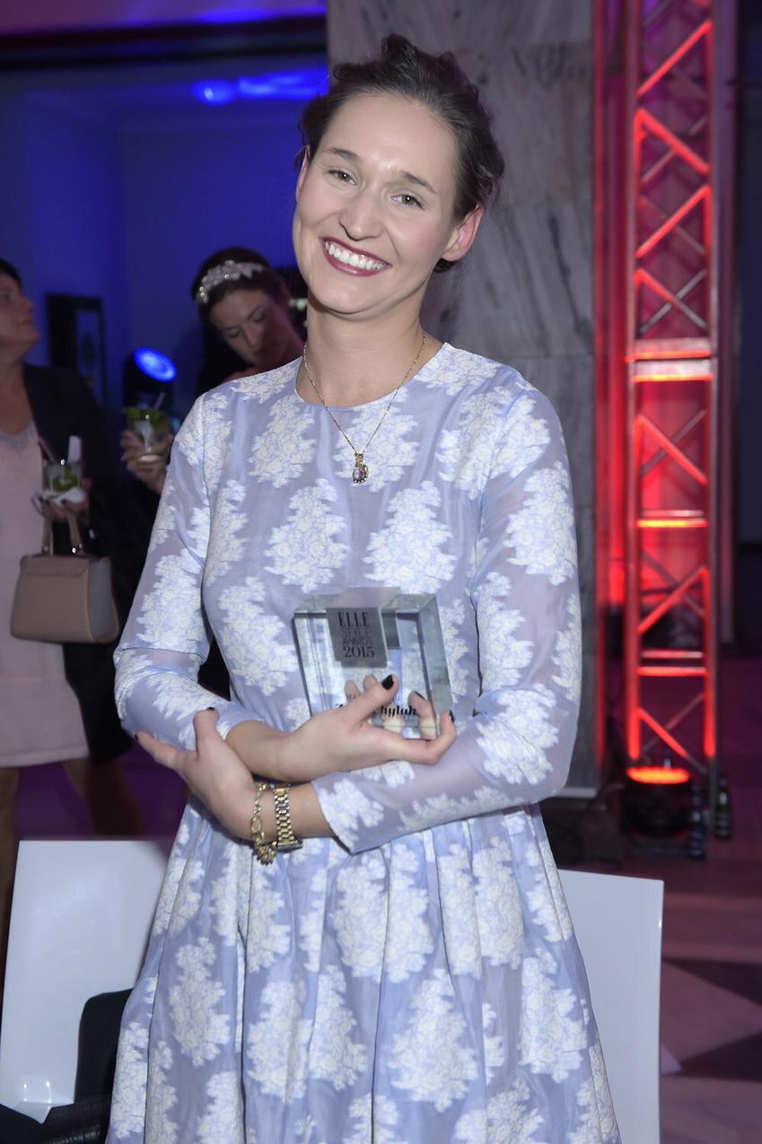 Zofia Chylak z nagrodą Elle Style Awards 2015