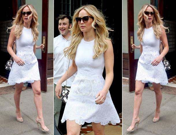 Best Look: Jennifer Lawrence w małej białej Antonio Berardi