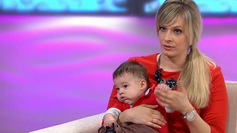 Peller Mariannak óriási szerencséje van a kisbabájával / Fotó: TV2