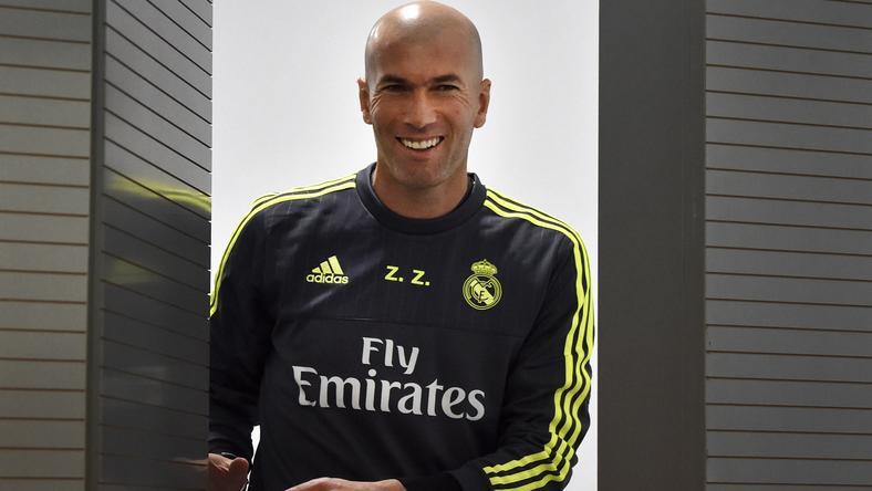 Optimistán vág bele a munkába Zidane /Fotó: AFP