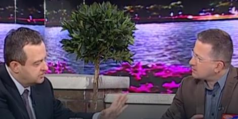 Ministar Ivica Dačić i autor jutarnjeg programa TV Pink Srđan Predojević