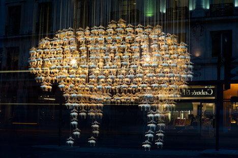 London Design Festival na Regent Street, instalacja dla firmy krawieckiej Brooks Brothers / Artbiznes
