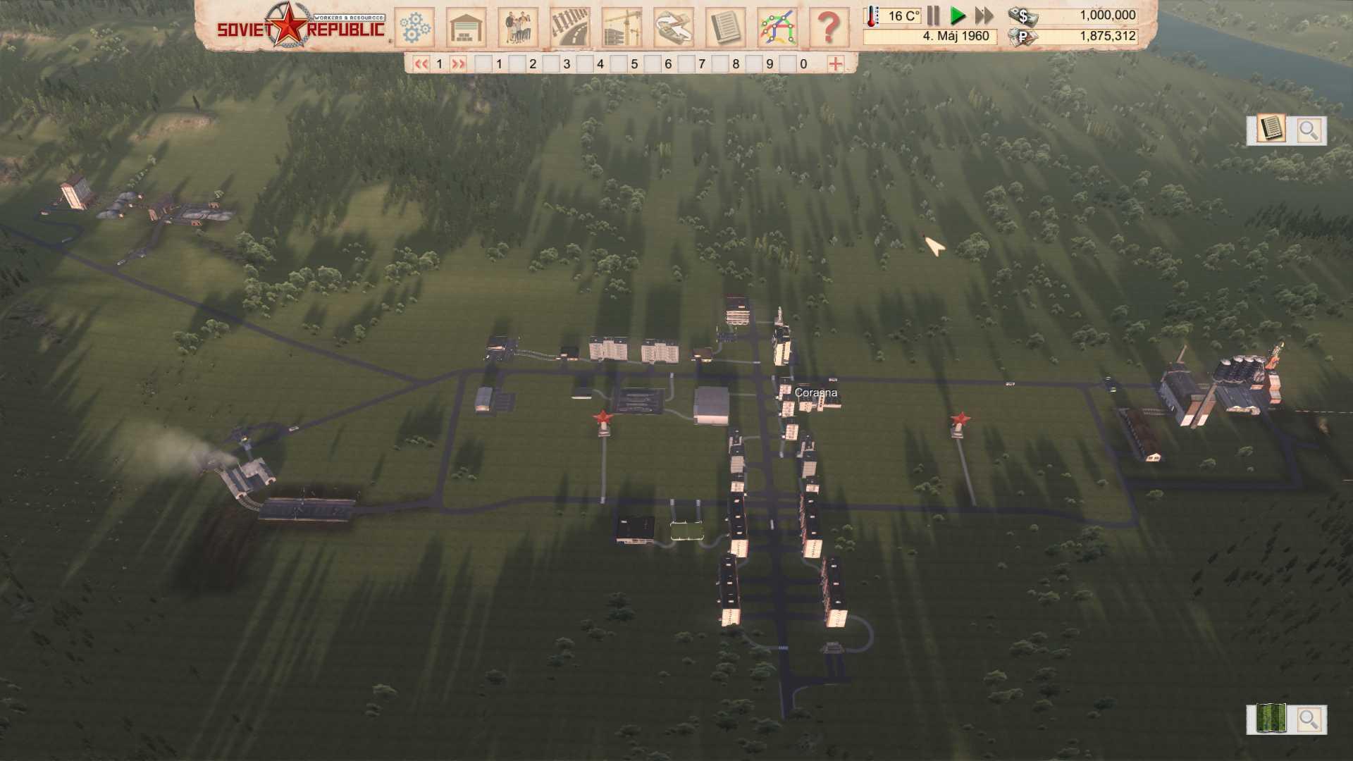 Pri plánovaní výstavby sme dbali na to, aby boli obytné zóny v centre a priemyselné parky na okraji.