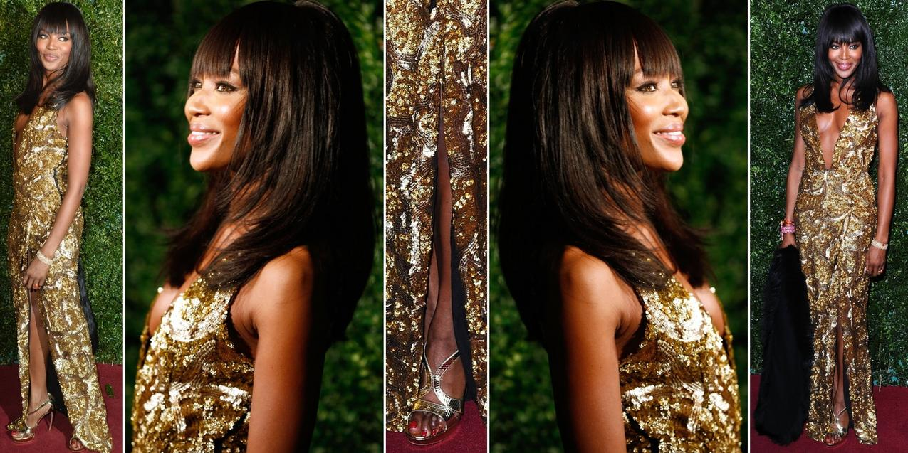 Best Look: Naomi Campbell w sukni Burberry / Getty Images