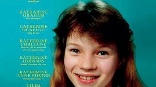 Młodziutka Kate Moss na okładce L'Officiel
