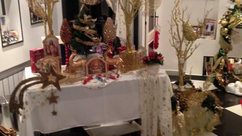 Győzikééknél még teljes karácsonyi díszben a lakás! / Fotó: Facebook