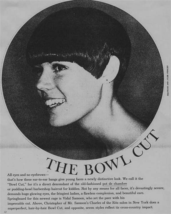 cięcie Bowl Cut w wydaniu Vidal Sasoona w latach 60.