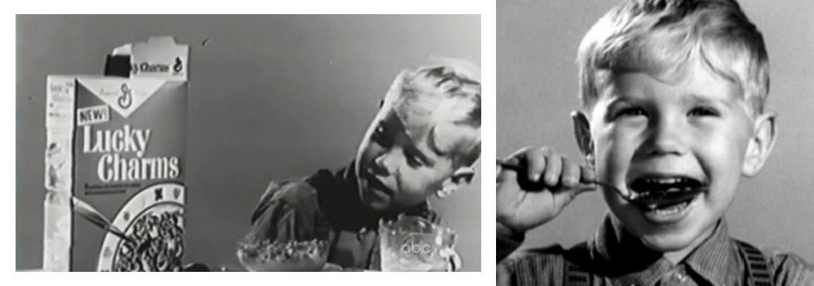 Mały Michael Kors (jeszcze jako Karl Anderson) w reklamie Lucky Charms