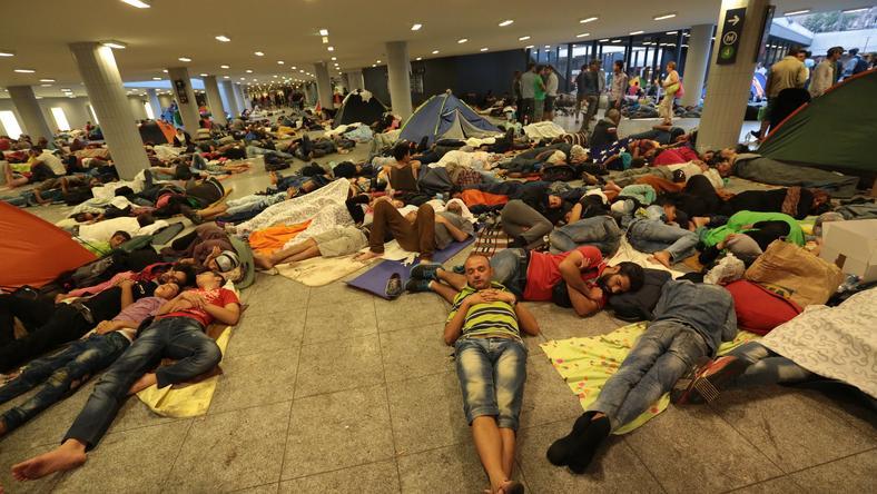 Több ezer menekültek várakozott a Keleti pályaudvar aluljárójában /Fotó: Gy. Balázs Béla