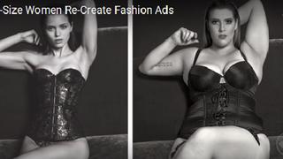 Kobiety plus size odtwarzają kampanie ze szczupłymi modelkami