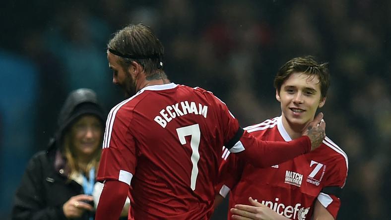 Beckham és Beckham a pályán /Fotó: AFP