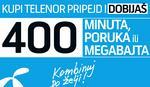 Bonus 400 jedinica za nove korisnike Telenorovog pripejda
