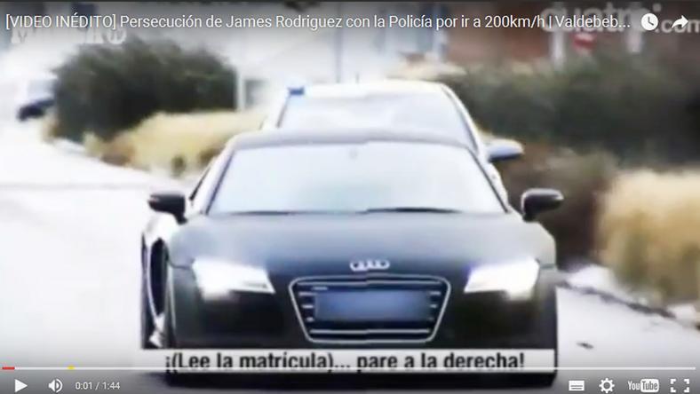 Rodríguez 45 milliós R8-as Audiját nem tudták utolérni a szirénázó rendőrök