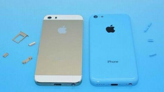 iPhone 5S z lewej, 5C z prawej