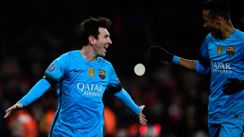 Messi kétszer is ünnepelhetett Londonban / Fotó: AFP