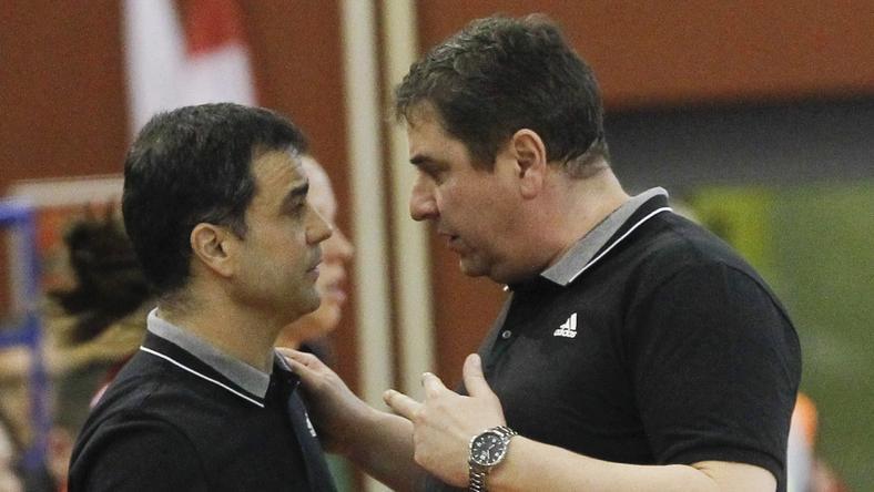 Ambros Martín (balra) ezúttal a győriek, Elek Gábor pedig a ferencvárosiak sikeréért küzd /Fotó: MTI Kovács Anikó