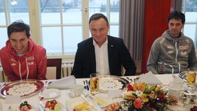 Andrzej Duda spotkał się z polskimi skoczkami