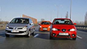 Fiat Grande Punto, Seat Ibiza, Renault Clio - Miejscy sprinterzy