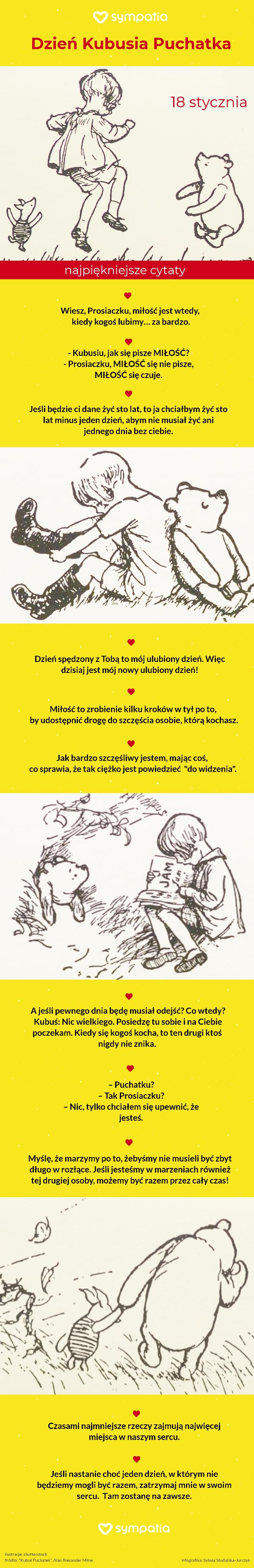 Dzień Kubusia Puchatka Najpiękniejsze Cytaty O Miłości