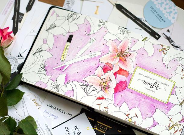 Notatnik pełen perfum
