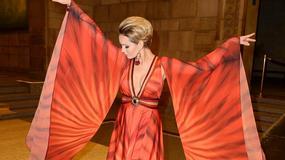 Dorota Gardias w kimono prezentuje atrakcyjny dekolt