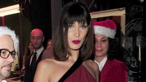 Bella Hadid w obcisłej sukni w drodze na imprezę. Zaliczyła wpadkę?