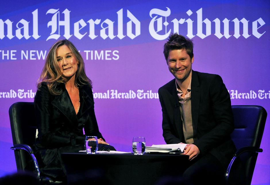 Angela Ahrendts i Christopher Bailey / fot. Getty Images