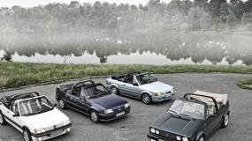Cztery kabriolety z lat 80-tych