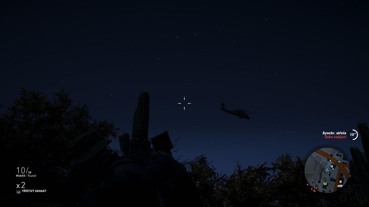 Ak nechcete vyvolať poplach, pred hliadkami protivníkov na vrtuľníkoch je lepšie sa skryť